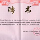 Lucio Sotte nell'Editorial Board del Journal di Shanghai