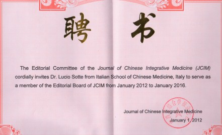 Lucio Sotte nell'Editorial Board del Journal di Shanghai